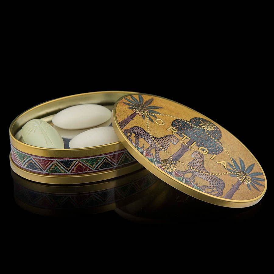 Ortigia Sicilia tin oval giftbox olive oil soap4 x 40 gr.-1