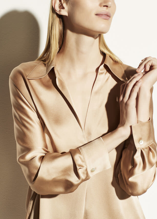 Shaped collar popover blouse Vince-1