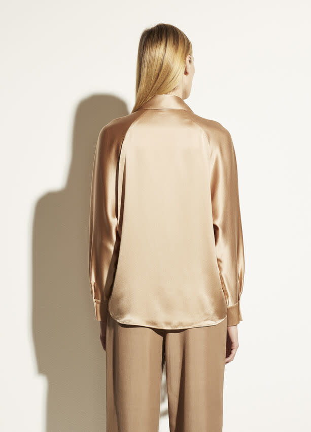 Shaped collar popover blouse Vince-4