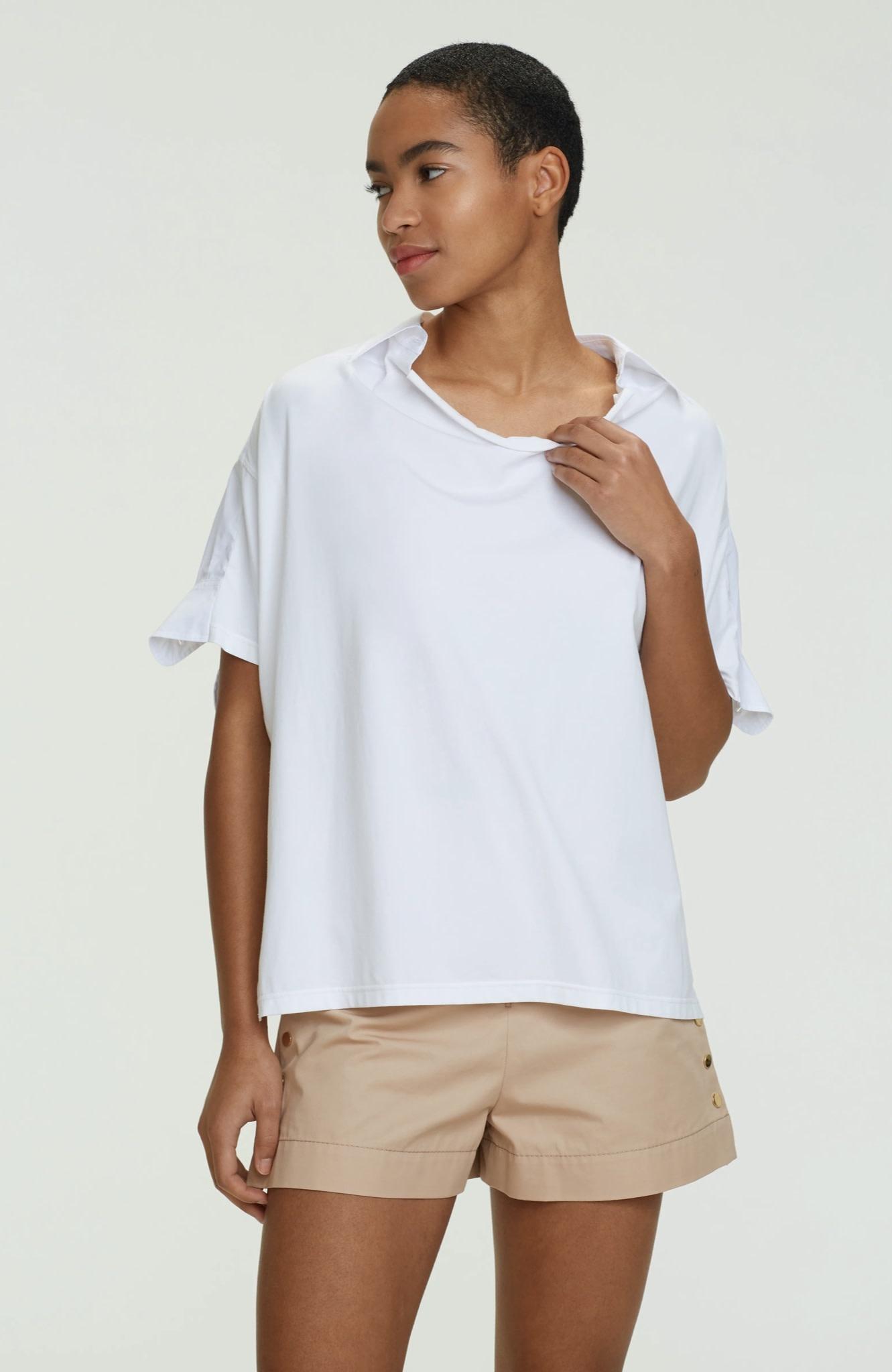 Cool contrast shirt blouse SS dorothee schumacher-1