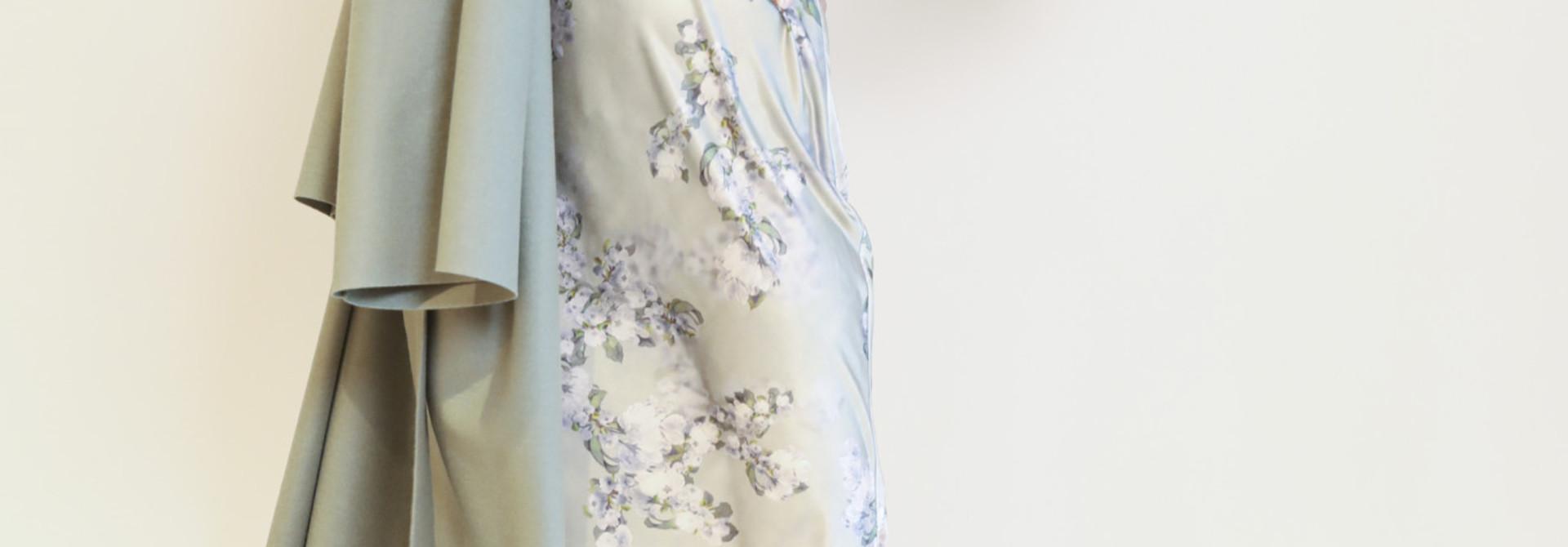 Hazy blossom cowl nk slip dress