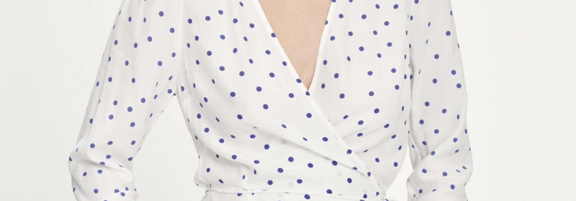 Britt wrap blouse Samsoe Samsoe