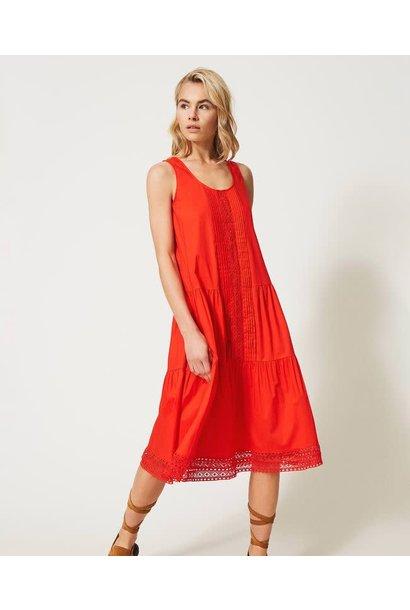 Popeline jurk van Twin-set