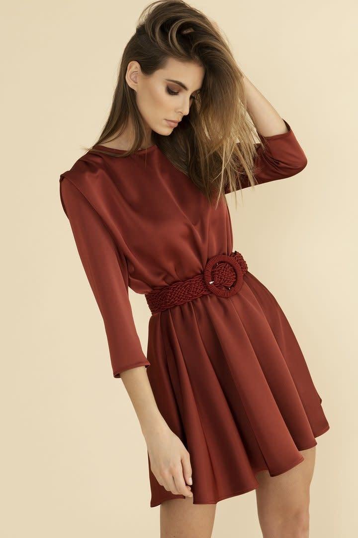 Maroon dress  Oscar-5