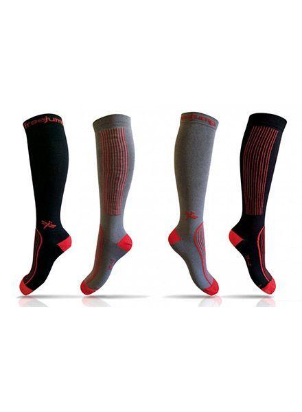 Freejump Technische sokken Zwart/Rood