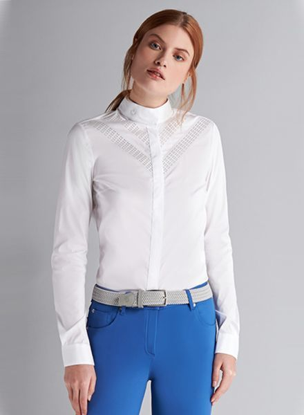 Cavalleria Toscana Perforated Double V Shirt L/S