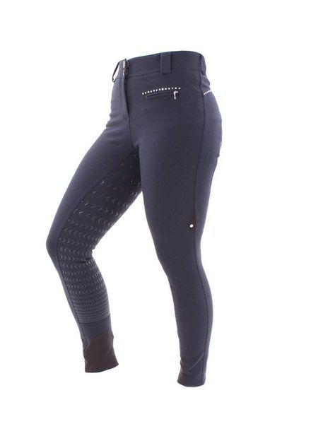 Equiline Riding Breeches Full Grip Cecile Navy