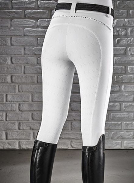 Equiline Riding Breeches Full Grip Cecile White