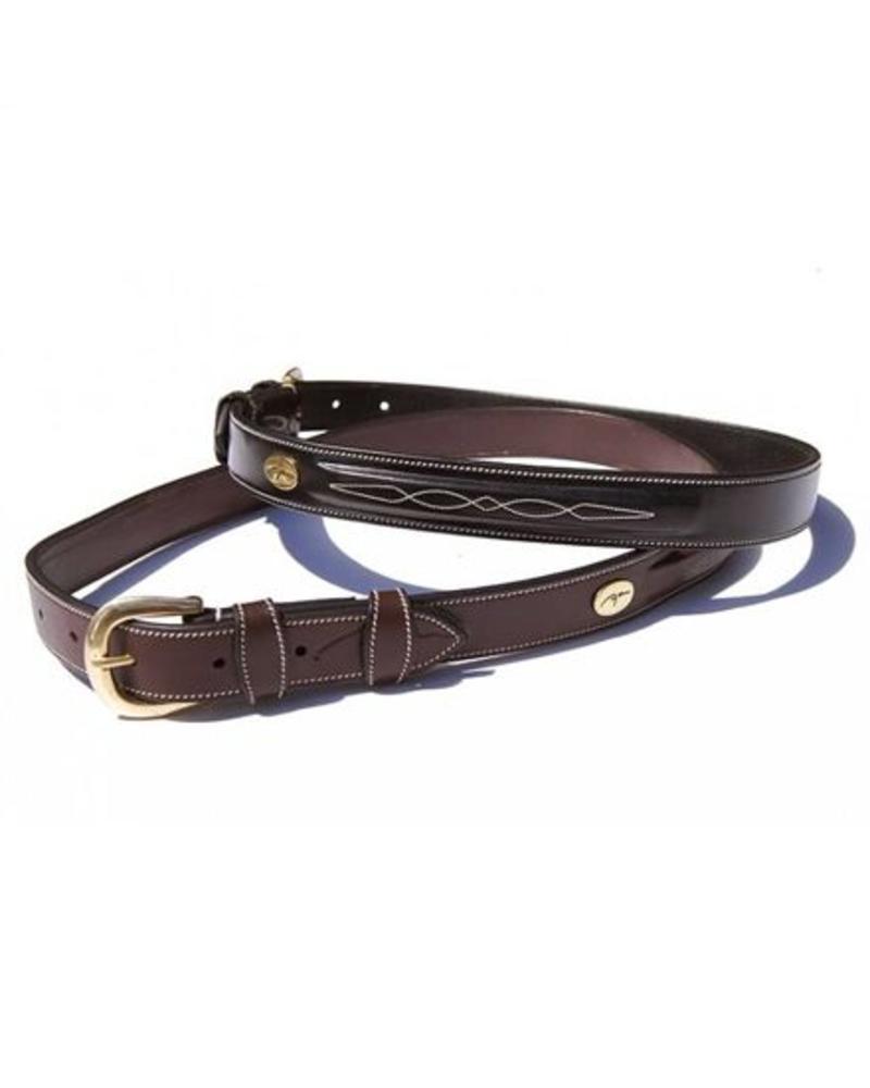 Dy'on Belt Fancy Stitch Black