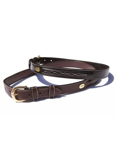 Dy'on Belt Fancy Stitch Brown