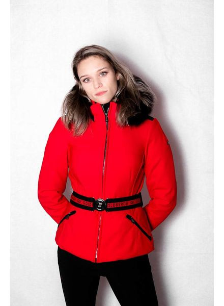 Goldbergh Hida Fur Jacket Poppy Red
