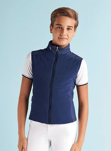 Cavalleria Toscana Perforated Jersey Quilted Vest