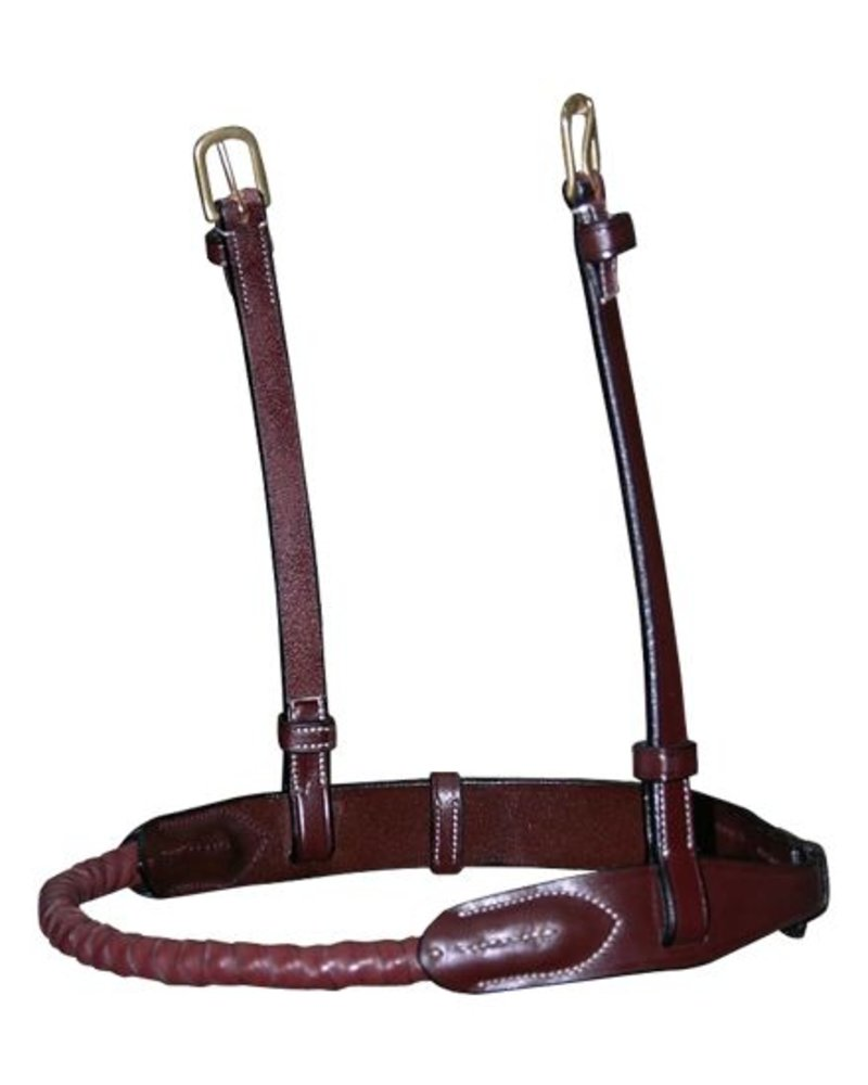 Dy'on Rope Noseband Leather Covered