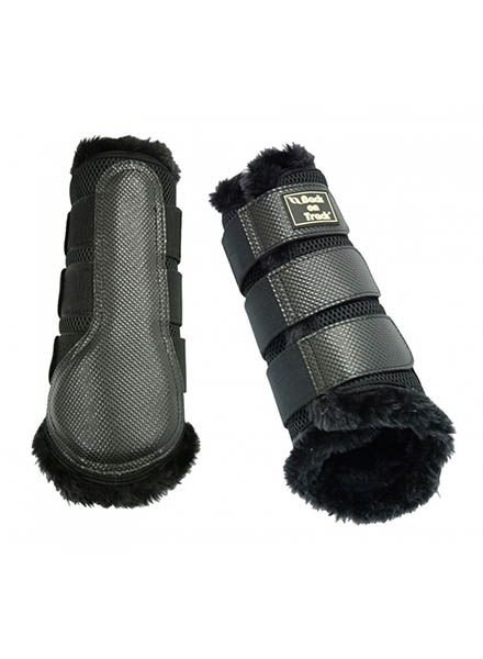 Back on Track Brush Boot 3D Mesh with faux fur