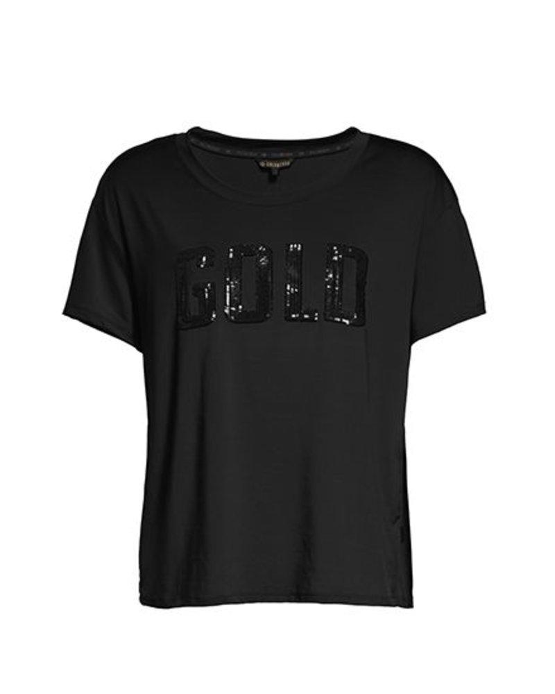 Goldbergh T-shirt Gold Zwart