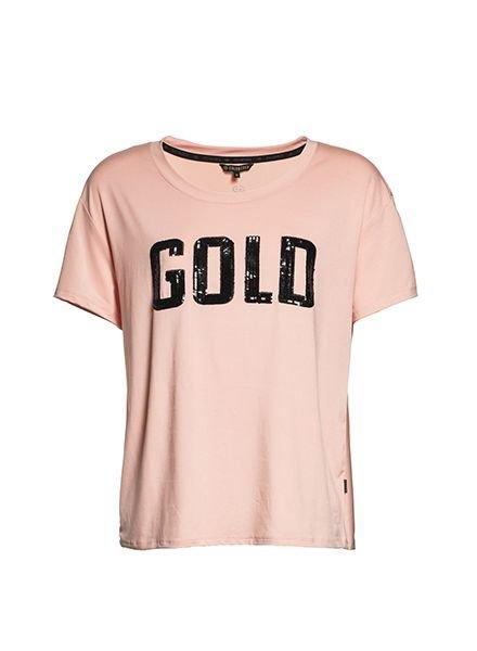 Goldbergh T-shirt Gold Pastel Roze