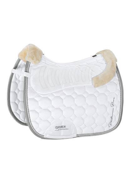 Eskadron Platinum Pure '19 Saddle Cloth Faux Fur Glossy White