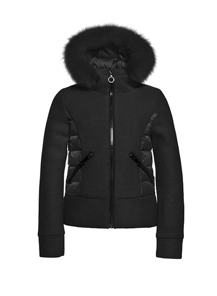 Goldbergh Cosy Jacket Fox Fur Zwart