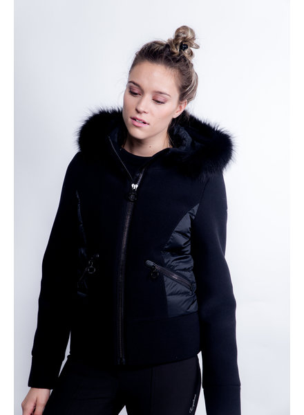 Goldbergh Cosy Jacket Fox Fur Zwart