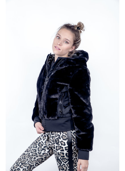 Goldbergh Sunna Jacket Faux Fur Zwart