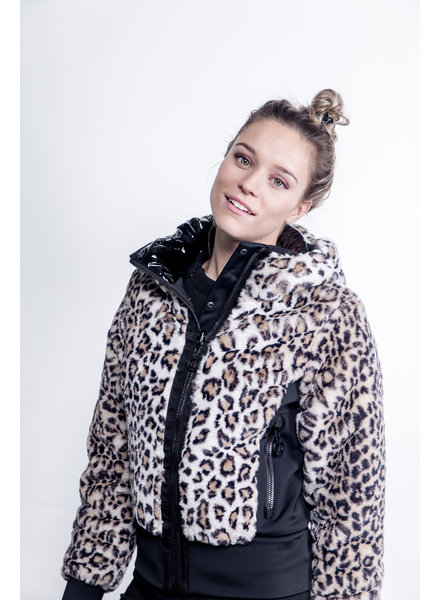 Goldbergh Sunna Jacket Faux Fur Leopard