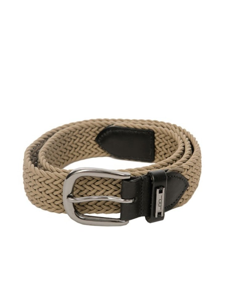 Alessandro Albanese Woven Belt Taupe