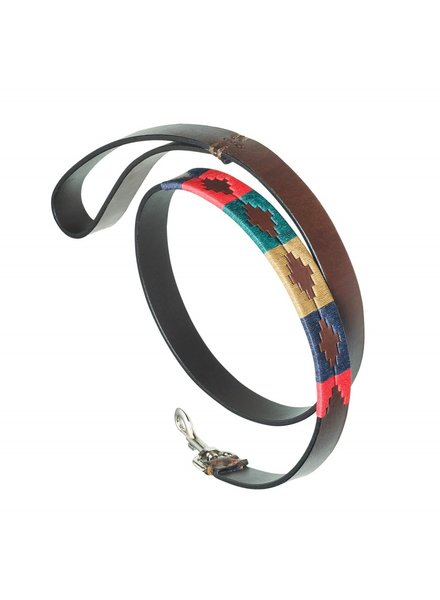 Pampeano Leather Dog lead Navidad