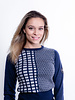 Alessandro Albanese AA Round Neck Equestrian Sweater Navy