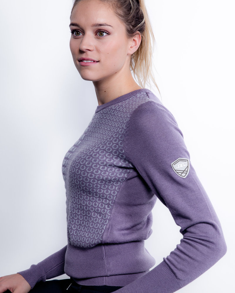 Alessandro Albanese AA Round Neck Equestrian Sweater Lilac