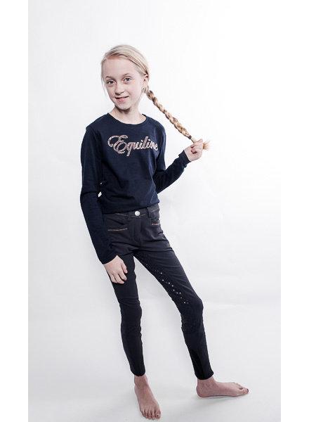 Equiline Girl's Breeches Full Grip Alice Navy