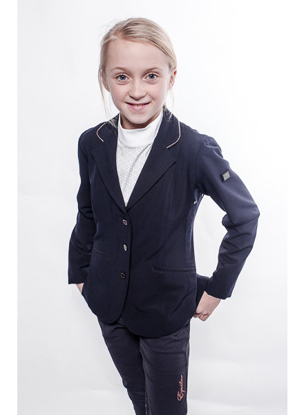 Equiline Girl's Competition Jacket Ursula Navy