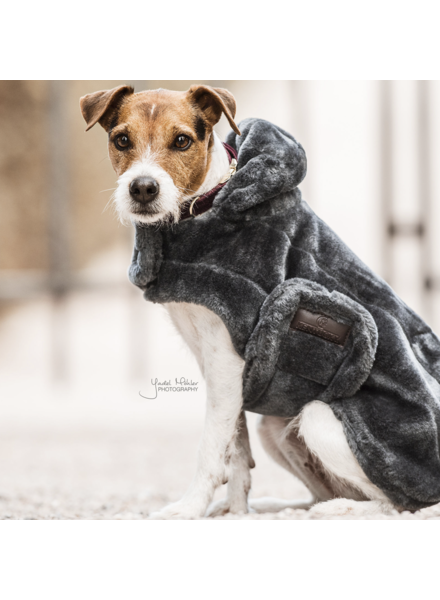 Kentucky Dog Coat Fake Fur Grey