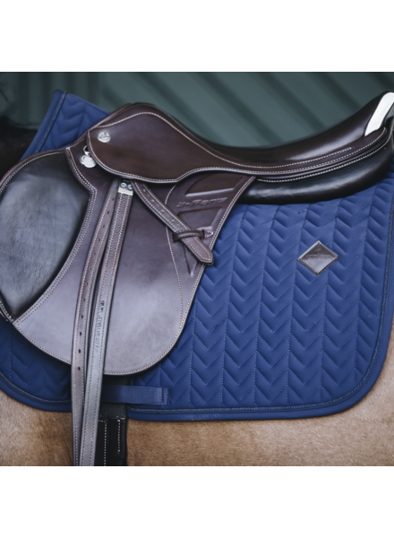 Kentucky Zadeldek Fishbone Jumping Navy