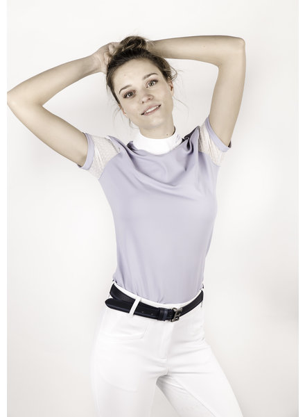 Equiline Women's Competition Polo Shirt S/S Vapore