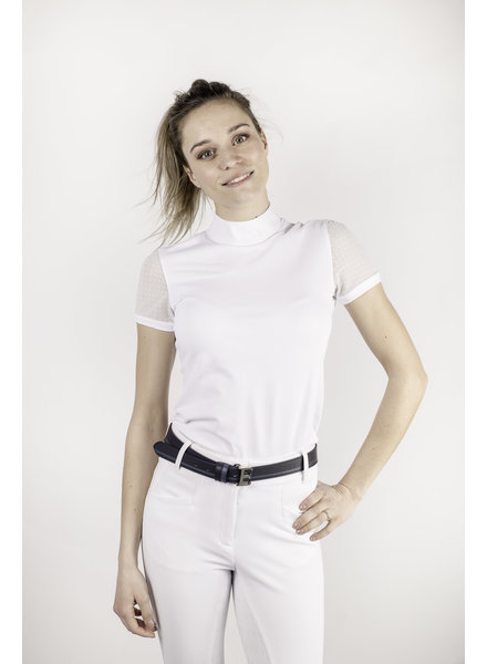 Equiline Women's Competition Polo Shirt S/S White