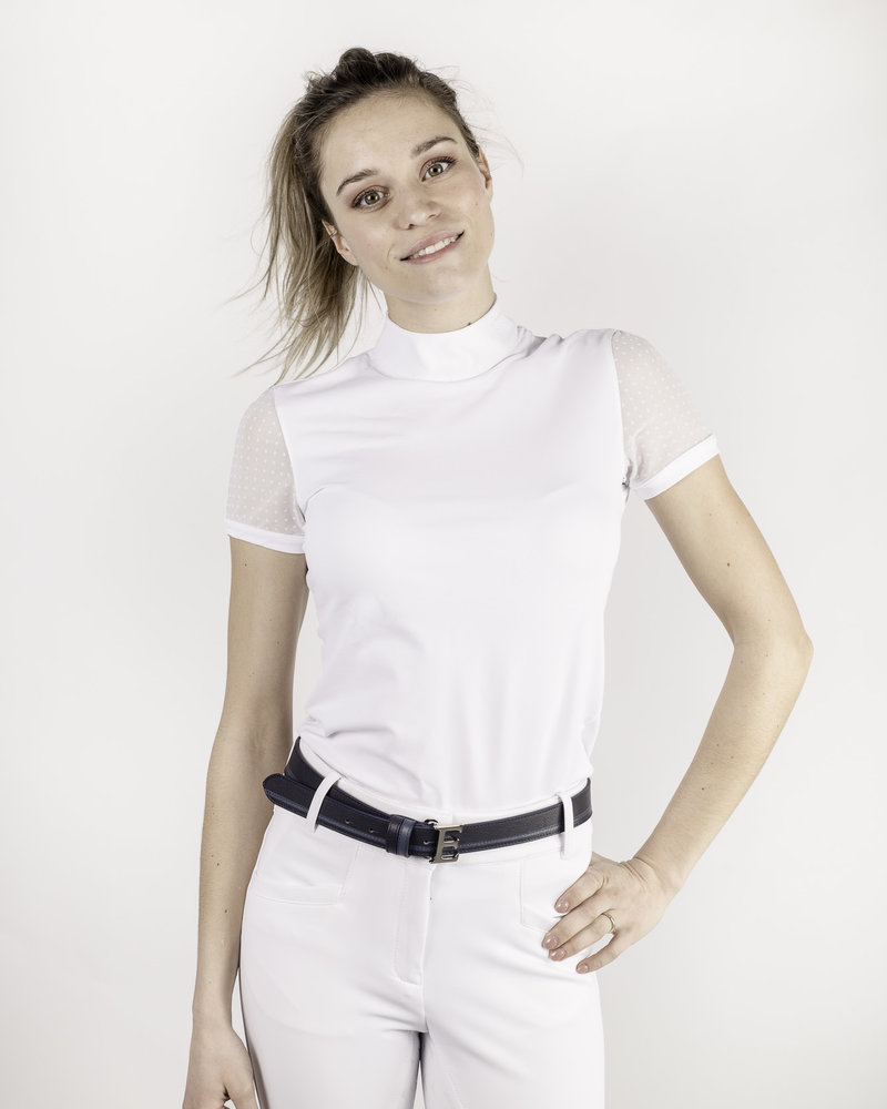 Equiline Equiline Women's Competition Polo Shirt S/S White