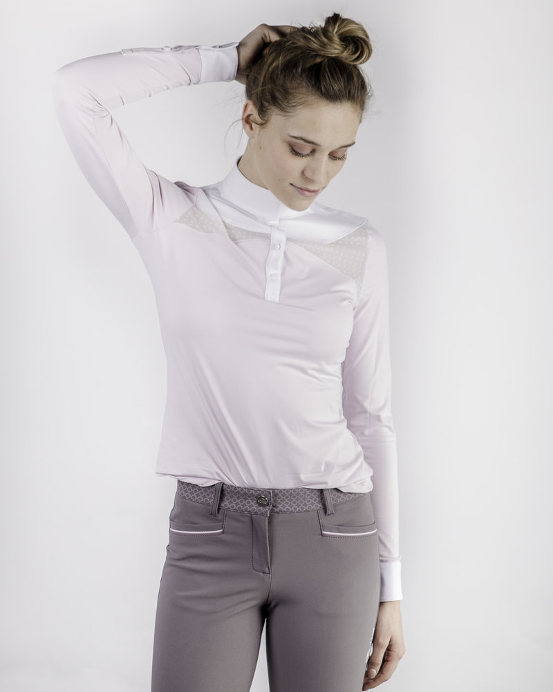 Equiline Equiline Women's Competition Polo Shirt L/S Orchid Ice