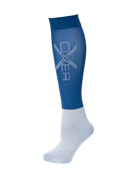 Oxer Socks Slim Foot Blue