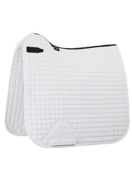 Le Mieux Saddle Pad LMX Prosport Plain CC Squares Cotton White