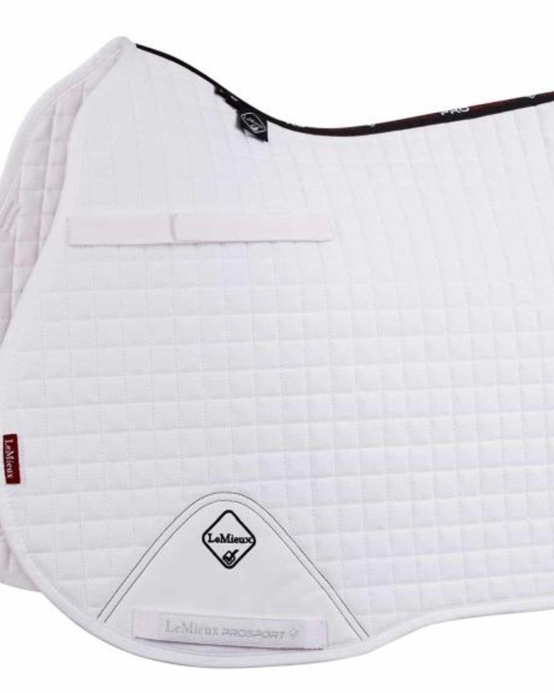 Le Mieux Le Mieux Saddle Pad LMX Prosport Plain CC Squares Cotton White