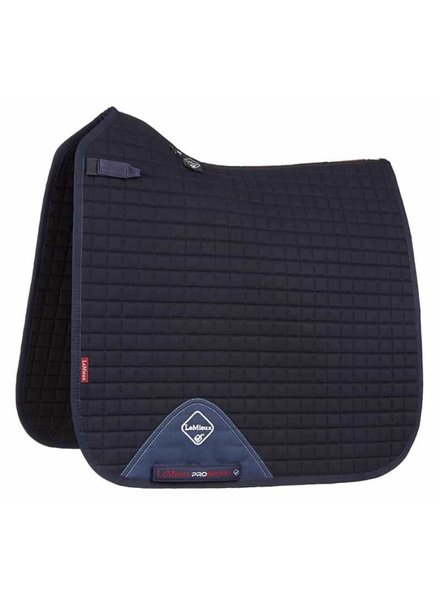 Le Mieux Saddle pad LMX Prosport Plain CC Squares Cotton Navy