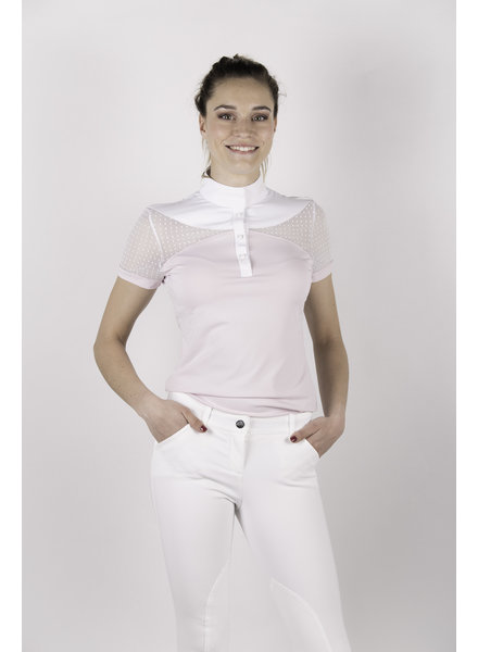 Equiline Women's Competition Polo S/S Orchid Ice