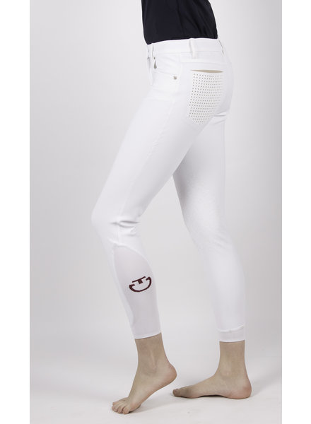 Cavalleria Toscana Perforated Flap Breeches White