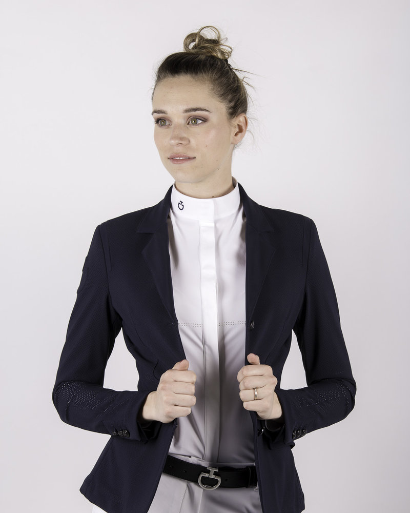 Cavalleria Toscana CT All-Over Perforated Competition Jacket Navy