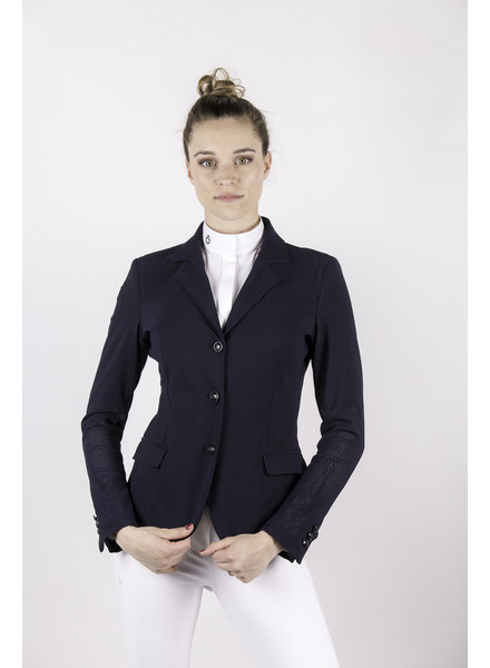 Cavalleria Toscana All-Over Perforated Competition Jacket Navy