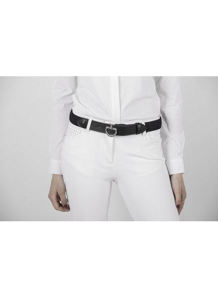Cavalleria Toscana Women's Elastic Belt Logo Clasp Black