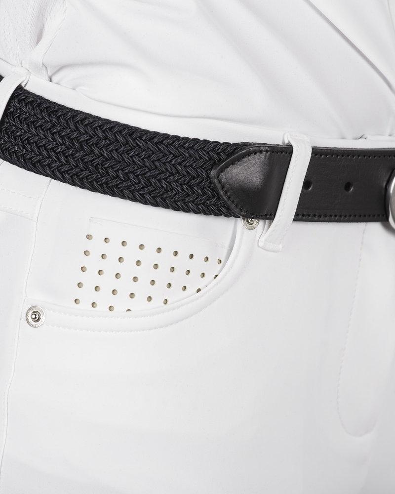 Cavalleria Toscana CT Women's Elastic Belt Logo Clasp Black