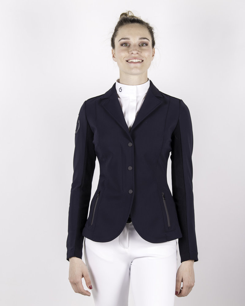 Cavalleria Toscana CT Tech Knit Zip Riding Jacket Navy