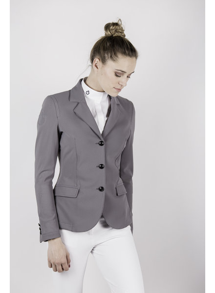 Cavalleria Toscana All-Over Perforated Competition Jacket Grey