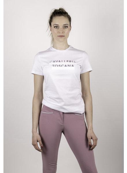 Cavalleria Toscana Peekaboo CT Crew Neck T-Shirt White